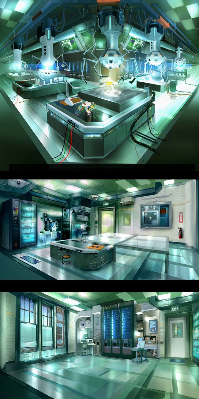 Laboratory Room Design: Futuristic Art, Sci Fi Art, Sci Fi