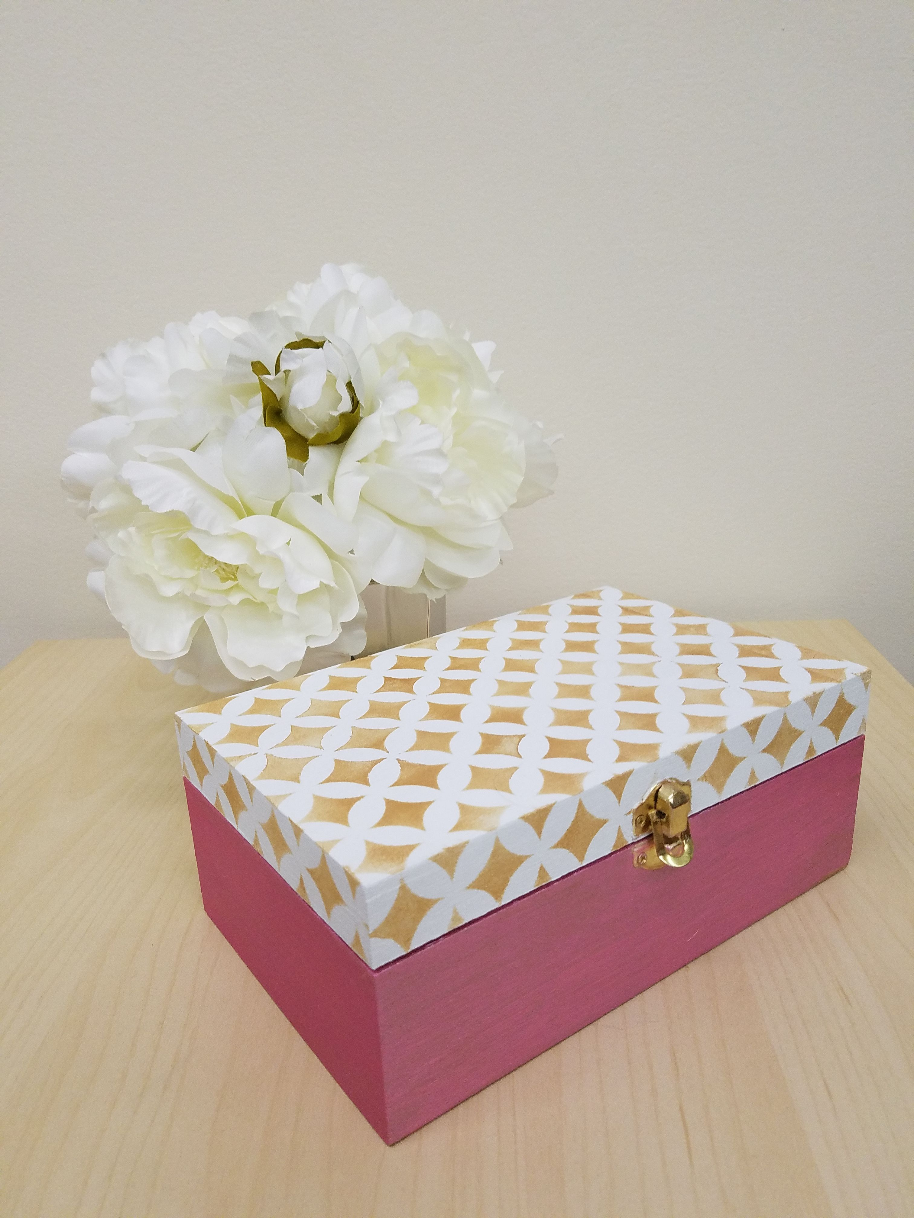 Learn how to craft a DIY wooden jewelry box ($5.99 from Michaels ...