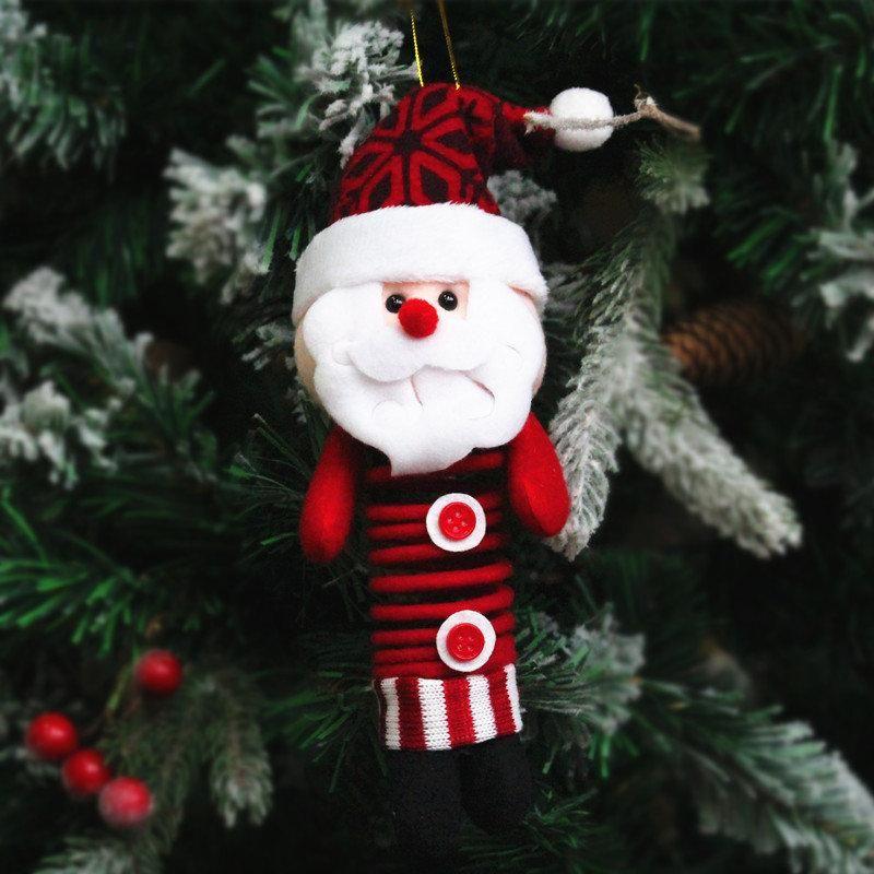 Christmas Pendant Hanging Craft Sewing Ornaments Doll Santa Claus Holiday Decor