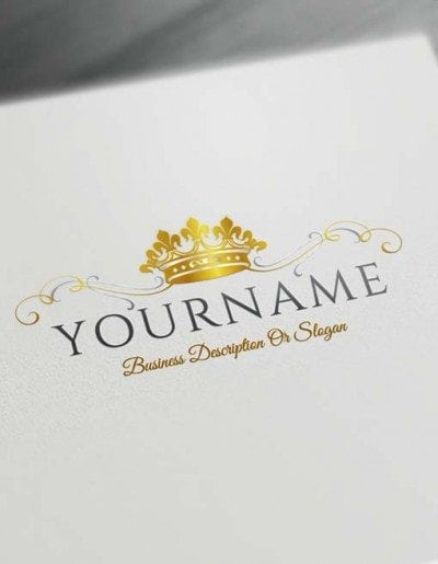 Make logo online King Crown Logo Template Heraldic Free