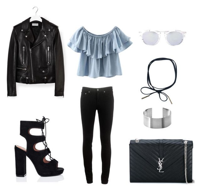 Black and blue by ilovetavana on Polyvore featuring polyvore, fashion, style, Yves Saint Laurent, rag & bone, Dior Homme and clothing