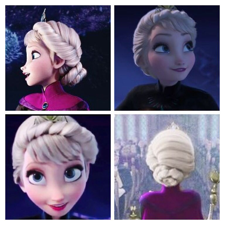 Image result for elsa coronation hair