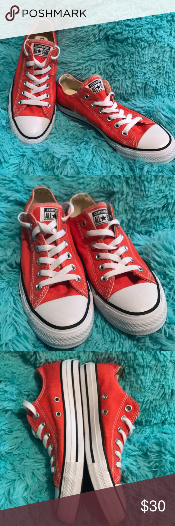 Converse chuck  all star low ox orange classic Like new never worn no box. Converse Shoes Athletic Shoes