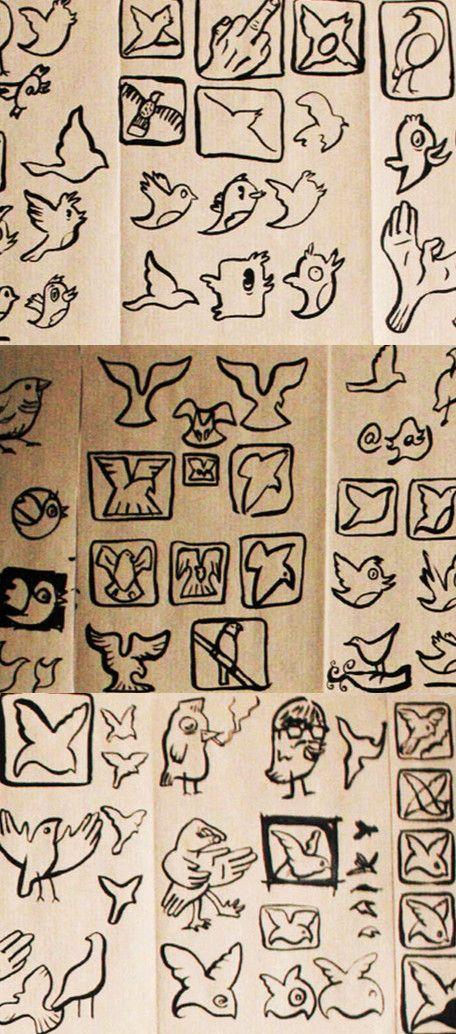 The origins of Twitter bird,Los orígenes del pajarito de Twitter...
