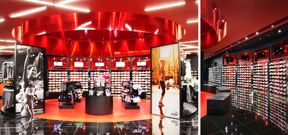 A Theater of Sporting Goods Innovasport Flagship