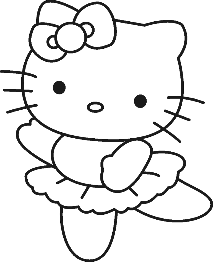 Hello Kitty Was Wearing A Cute Costume Coloring Page - hello kitty ...