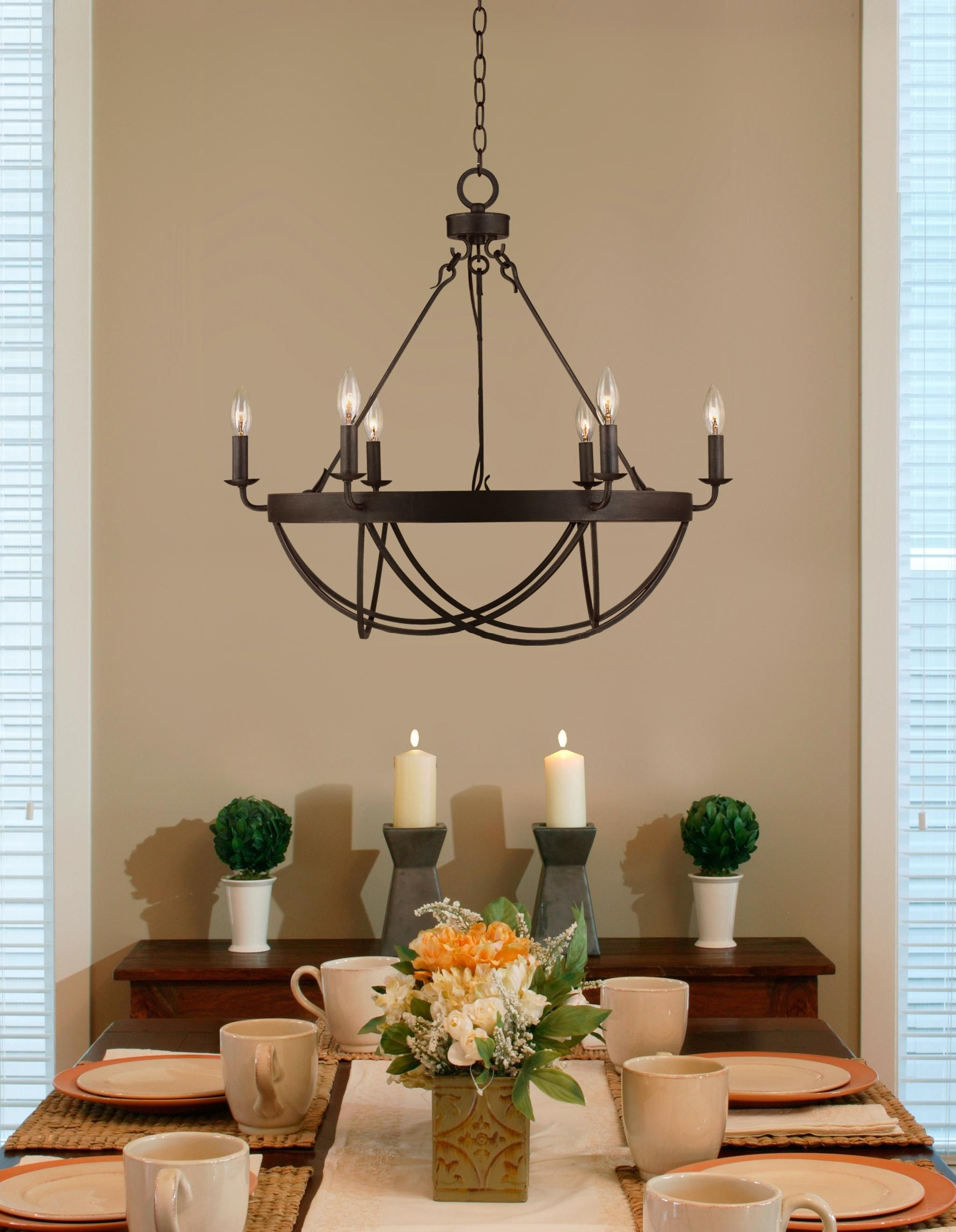 """lyster square 28"""" wide oil-rubbed bronze chandelier 
