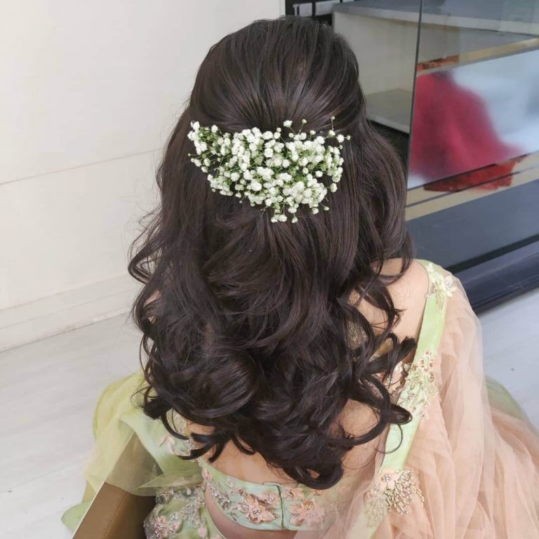 30 Creative And Unique Wedding Hairstyle Ideas: Easy Peasy Mehendi Hairstyle Ideas For Brides And