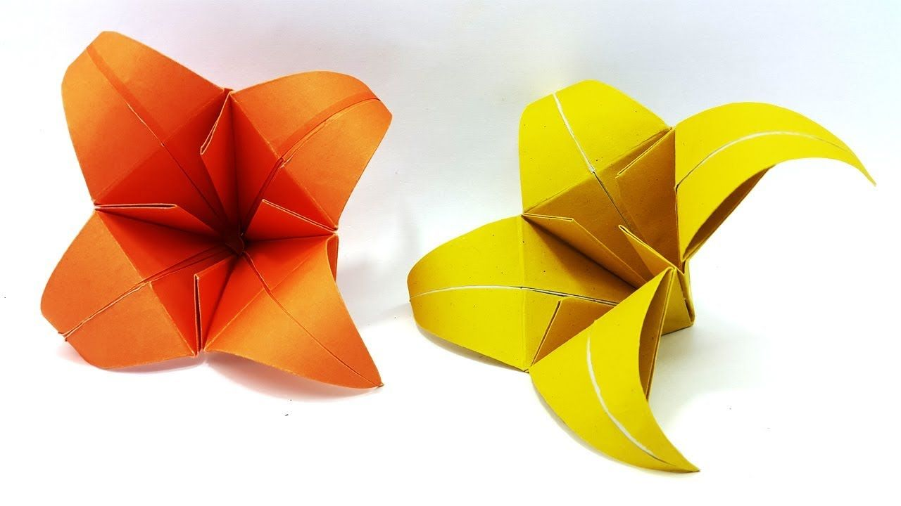 Learn How To Make Origami Lily Flower Easy And Simple Instructions