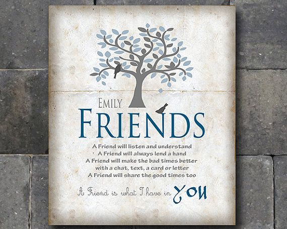 Friends  Best Friend Gift  Birthday Gift  by MoonlightGraphics