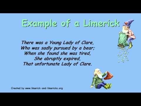 Limericks How To Write A Limerick Guide To Limericks