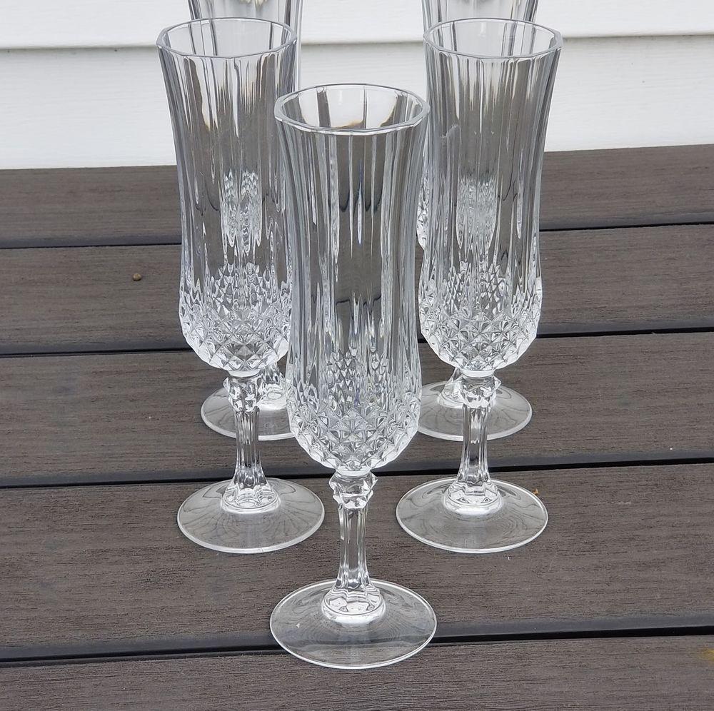 CRISTAL D'ARQUES Crystal Longchamp set of 3 Fluted