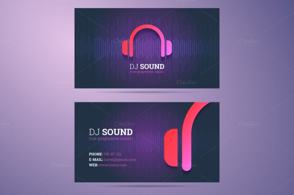 Dj business card dj visiting card dj visiting card design amar business card template templates business card template for dj and music business with headphones icon by zaniman accmission Choice Image
