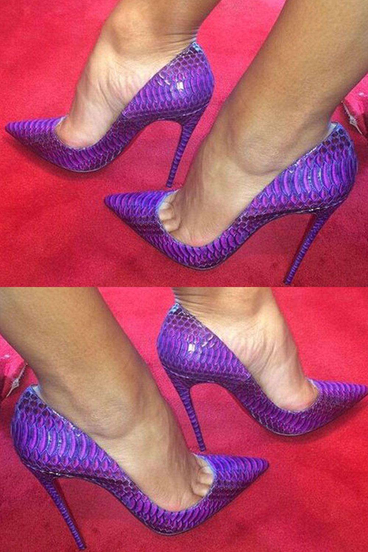 Shoespie Stylish Alligator Pattern Pointed Toe Banquet Stiletto Heels 17