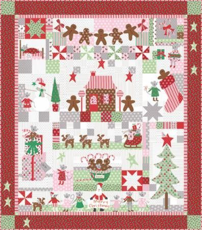 The Christmas Mouse Quilt Kit By Bunny Hill Design Christmas Quilts Christmas Quilt Patterns Holiday Quilts