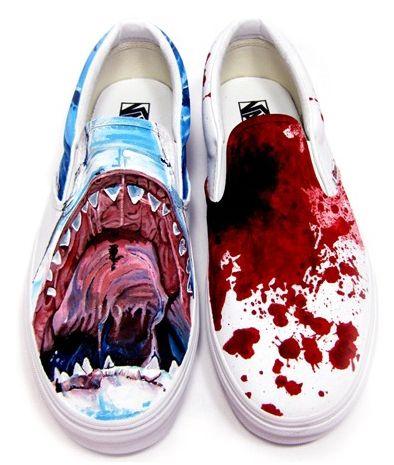 "e0b4b1b97abb08 Custom Vans Shoes  ""Bite Me"" Custom Vans by YoaKustoms"