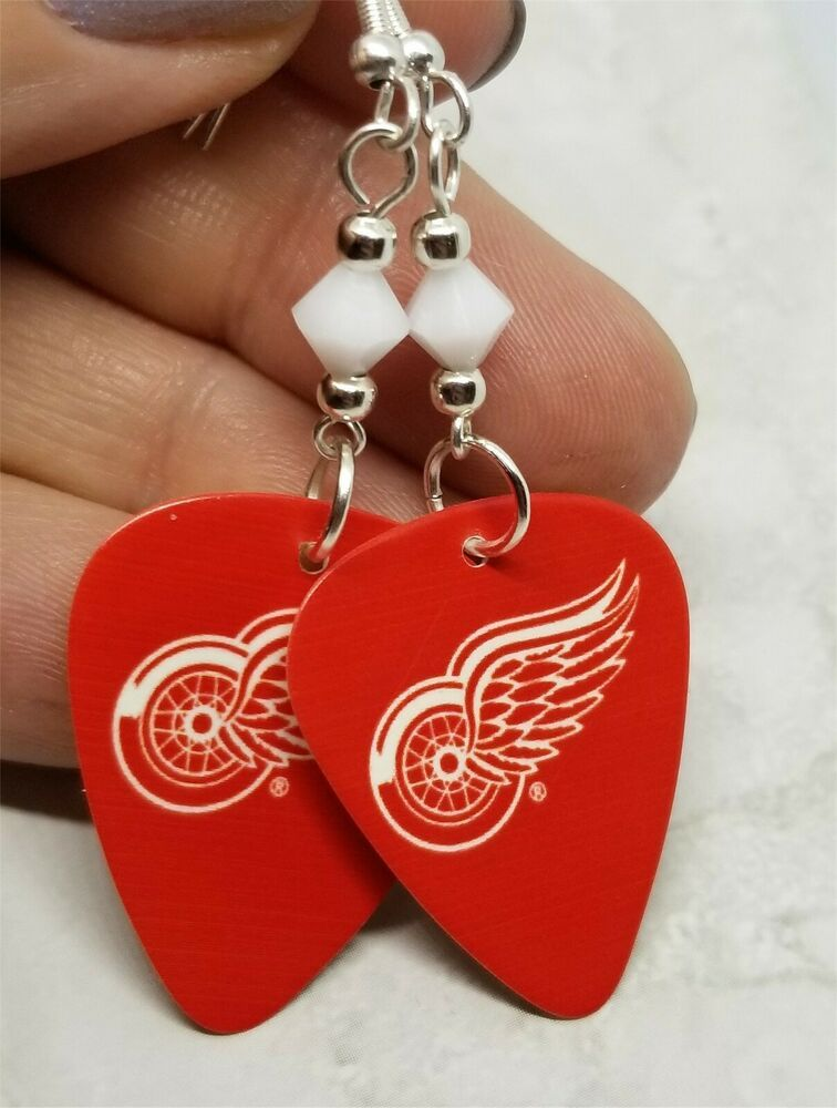 Details about mlb atlanta braves guitar pick earrings with