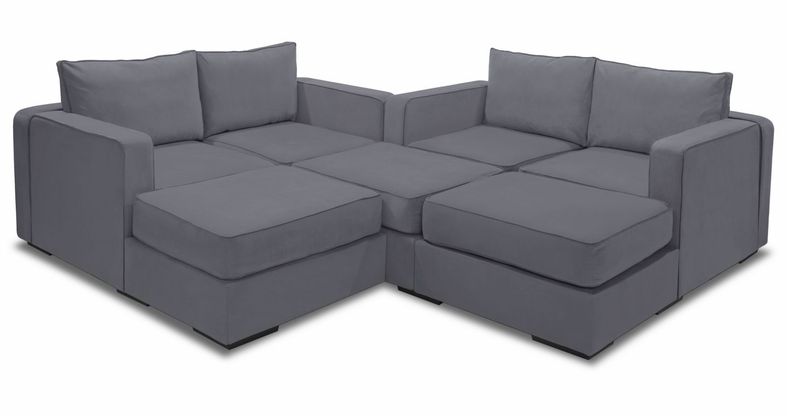Large Modular Sectional Couch 7 Seats 8 Sides With Images