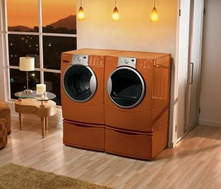 Orange Front Load Washer And Dryer Kenmore He4t Washer