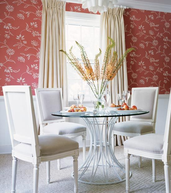 Wallpaper Above The Chair Rail! Check Out #Thibaut's