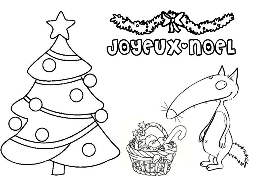 Coloriage Loup Auzou Noel French Teaching Resources