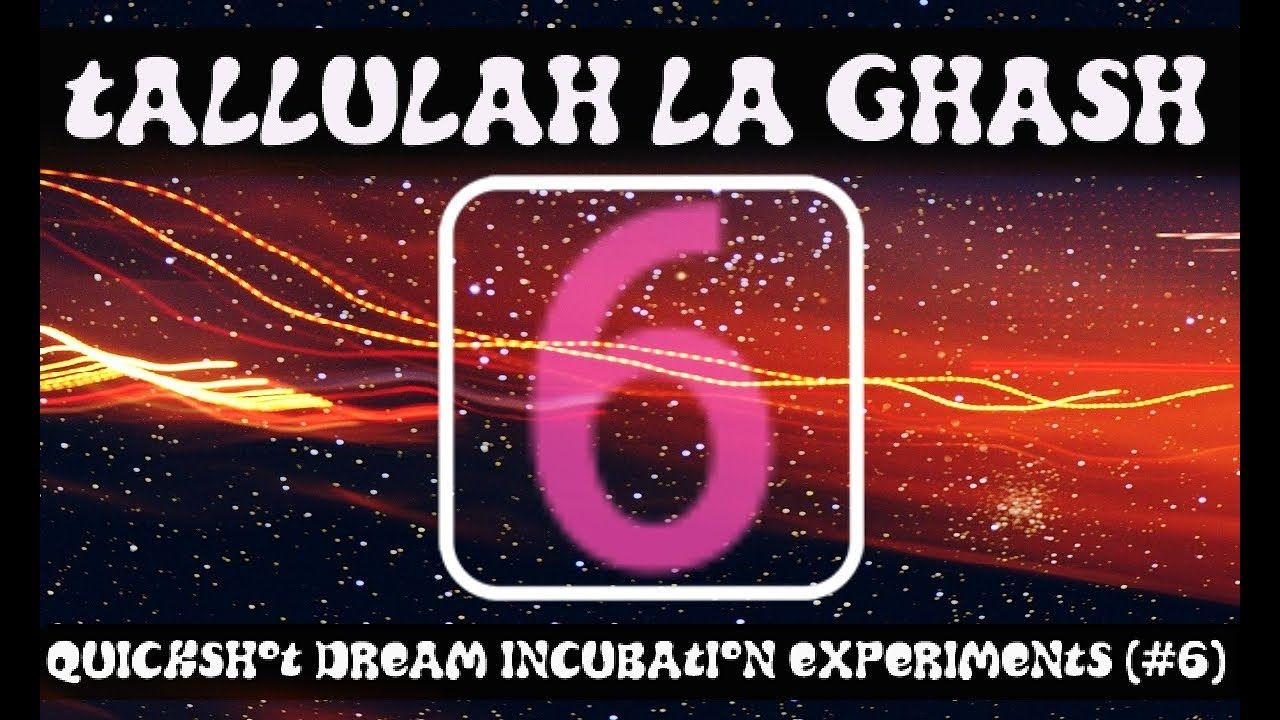Quickshot Dream Incubation Experiments (QDI6) Lucid