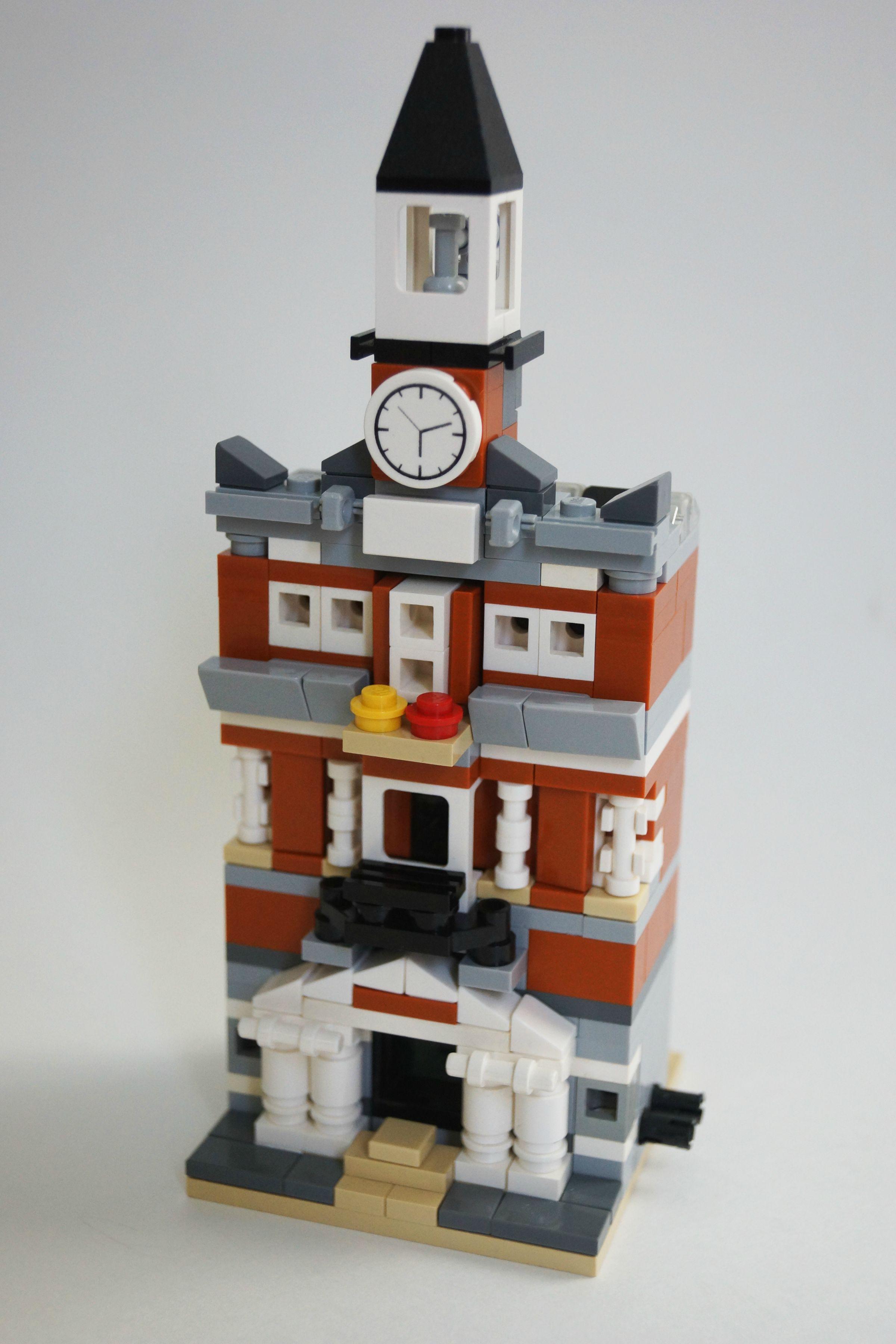 Mini Modular Town Hall Imgur Lego Pinterest Lego