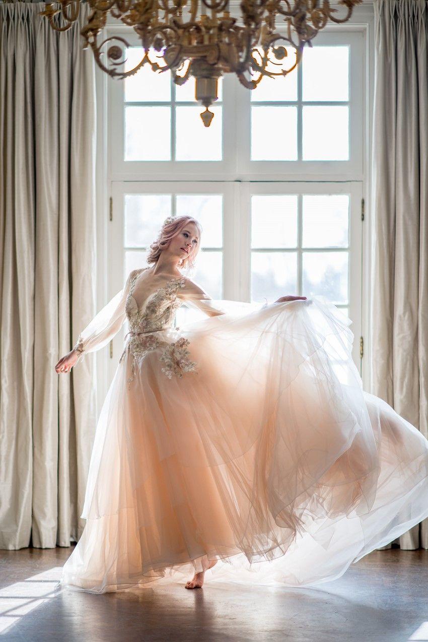 Morning skyu a dreamy bridal inspiration shoot wedding dresses