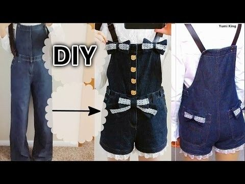 DIY Lace Denim Overalls | DIY Upcycle Your Old Clothes | Easy Sewing for Beginners + Review