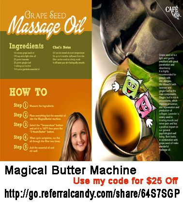 Pin by Alohacrush on PRODUCTS | Magic butter recipe, Massage oil