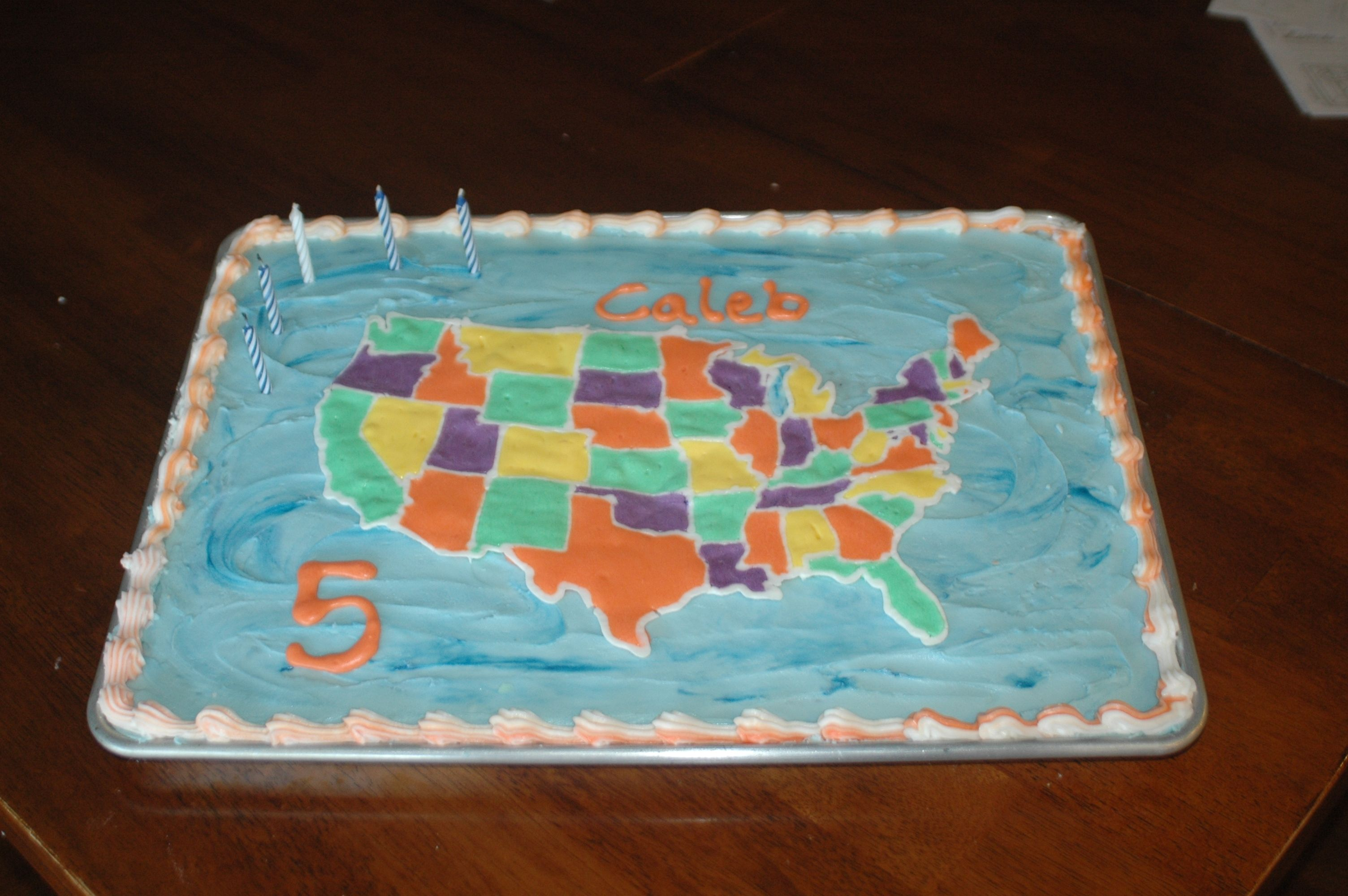 USA Map cake My 5 year
