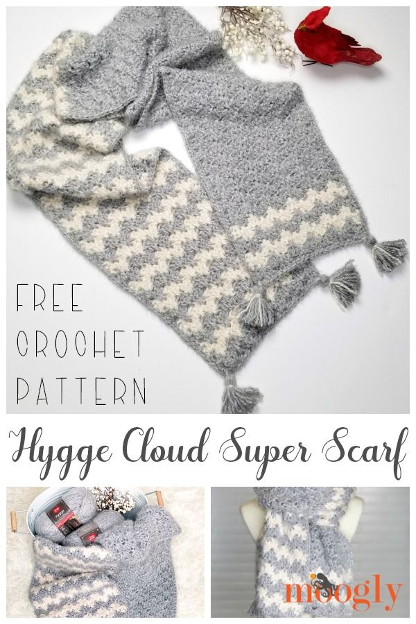 Hygge Cloud Super Scarf #crochetscarves