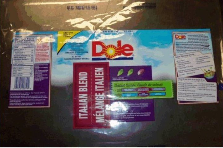 Dole brand italian blend salad recalled due to listeria