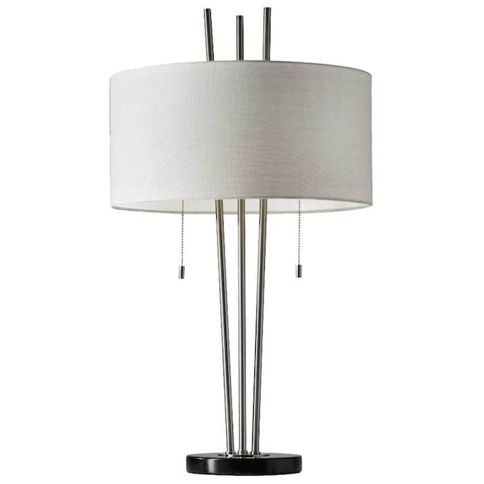 anderson table lamp in brushed steel nebraska furniture mart rh pinterest com
