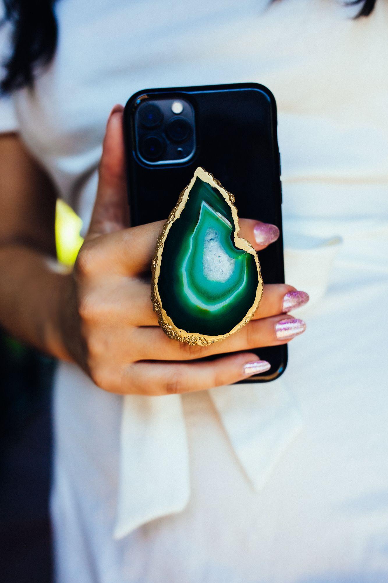 Pop Socket Samsung phone accessories Acrylic Pour Paint Pop Socket Phone Grip RESIN Coated IPhone