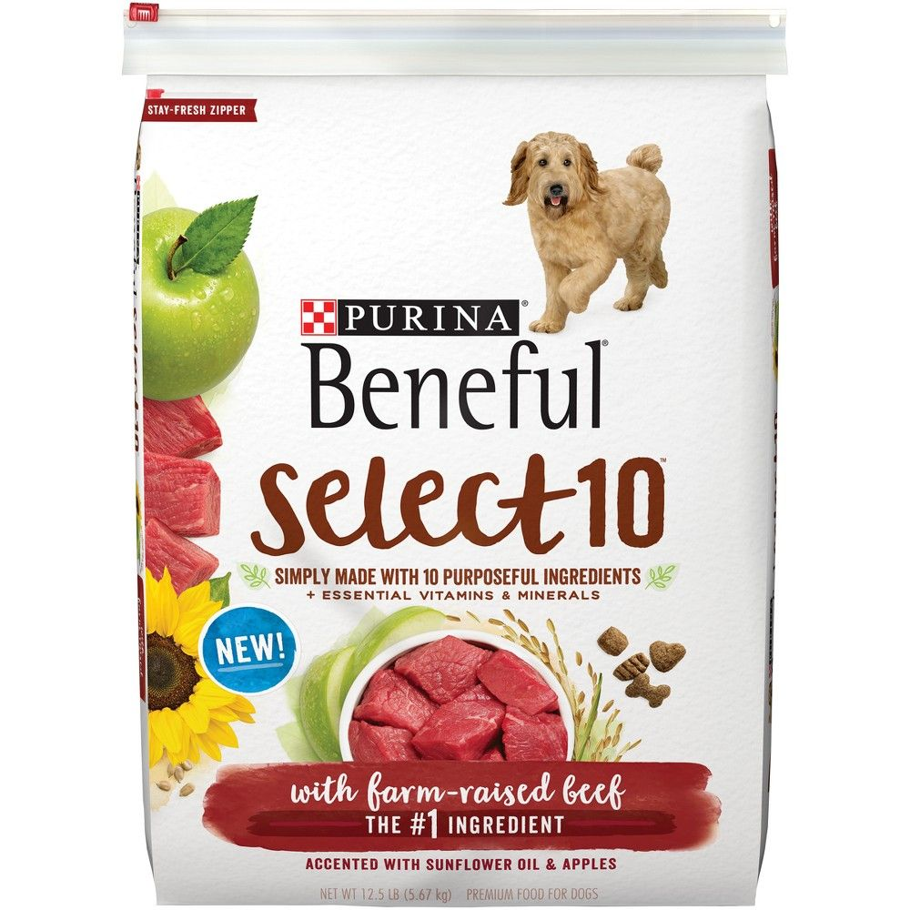 Beneful Select Dry Dog Food Beef Flavor 12 5lb Grain Free Dog
