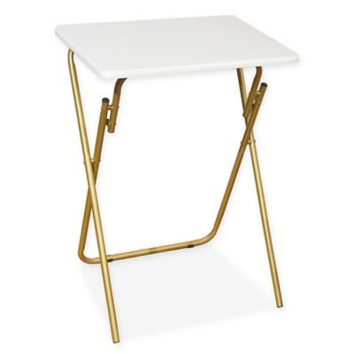 folding tray table in white gold products in 2019 gold bed rh pinterest com