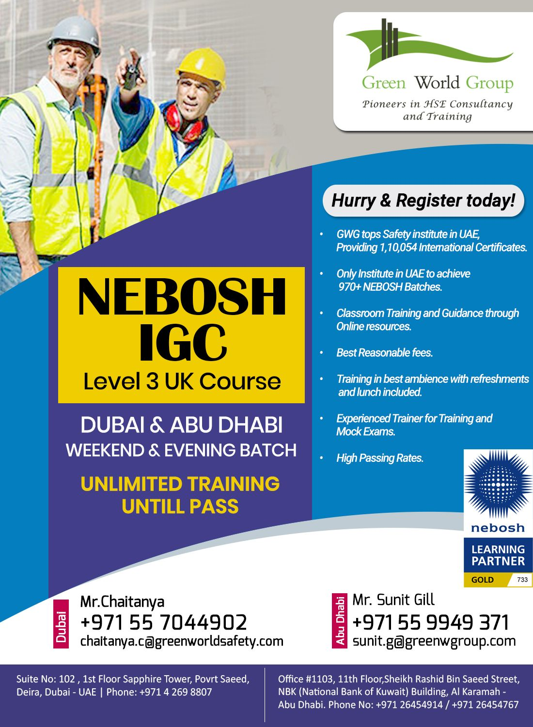 SCOPE OF DOING A NEBOSH IGC IN UAE? in 2020 Occupational
