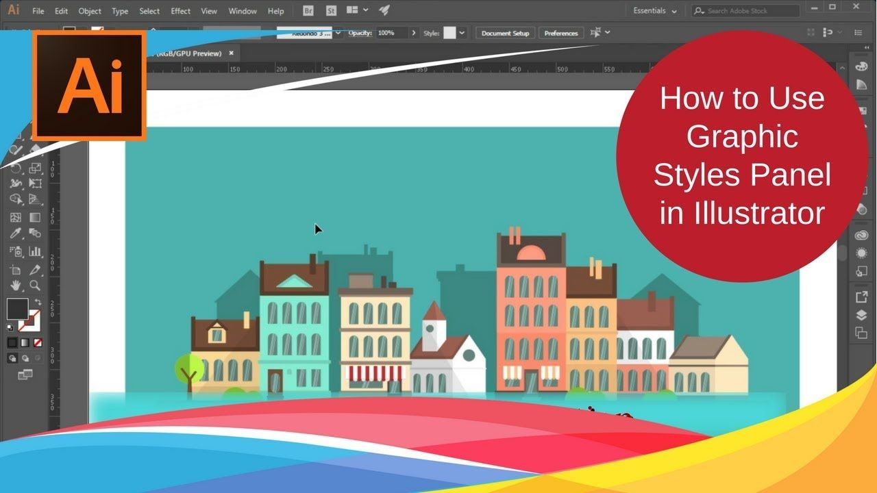 Adobe Illustrator Cc Tutorial 34 How To Use Graphic Styles Panel In Illustration Illustrator Tutorials Adobe Illustrator Tutorials
