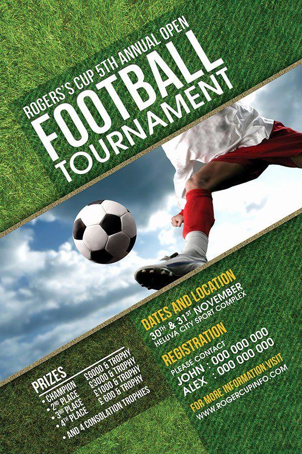 Football tournament Poster Template Free Luxury Football