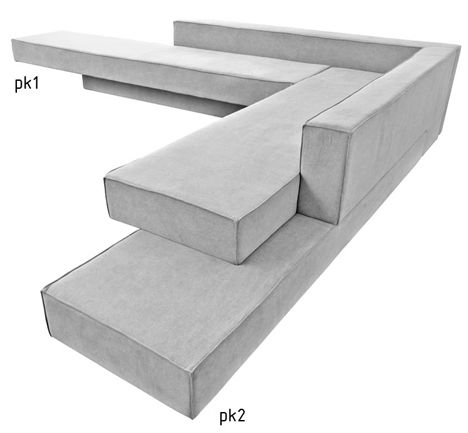 Cantilevered Sofas By Paulo Kobylka Fit Together Like Concrete Slabs