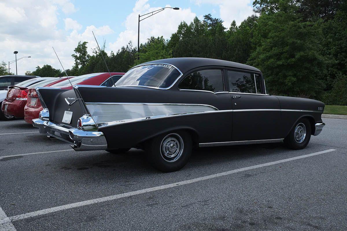 Matte Black 1957 Chevrolet Bel Air - Atlanta Streets | Cars ...