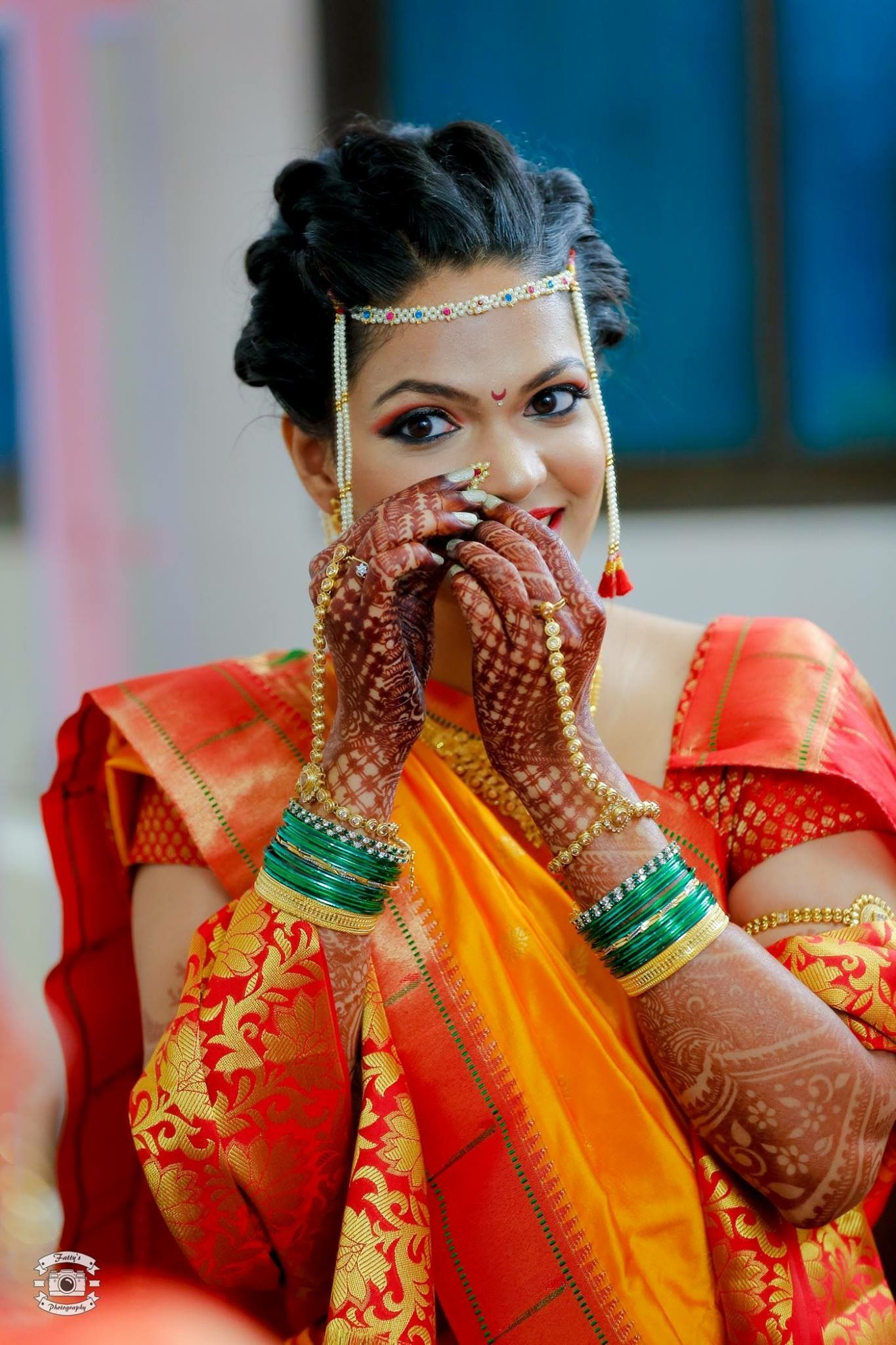 Maharashtrian Bride #maharashtrianbride | Indian bride hairstyle, Indian bridal hairstyles ...