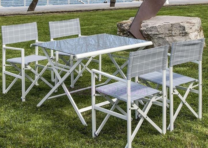 Set tavolo e sedie da giardino esterno arredo giardino for Tavolo sedie da esterno