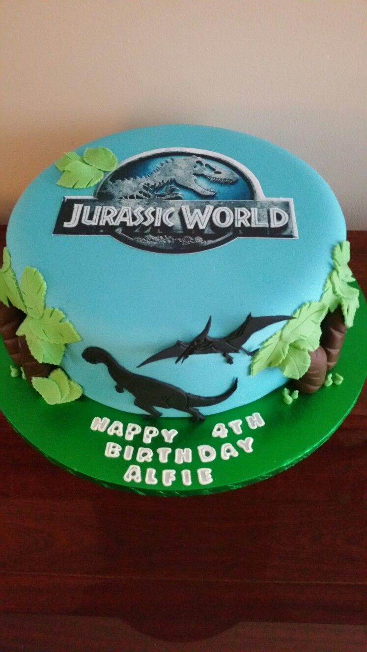 Jurassic Park Themed Birthday Cake By Toppers Cakes And Cupcakes