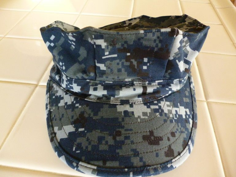 Us Navy Blue Camo Uniform Us Navy Working Uniform Nwu Blue Digital Camo Cap Hat Cover Size 7 Us Navy Digital Camo United States Navy