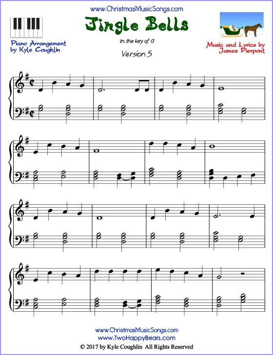Jingle Bells Full Version Advanced Piano Sheet Music Free Printable Pdf At Www Christmasmusicsongs Com Pianomusic Pianos Sheet Music Piano Sheet Piano Music