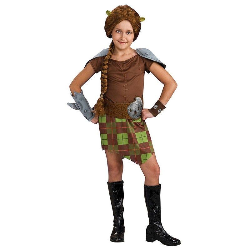 Shrek Forever After - Fiona Warrior Child Costume Shrek Forever After - Fiona Warrior Child CostumeYou'll be ready to fend for yourself as the fierce and fiery warrior- Princess Fiona.Item Includes: Dress Belt Cuffs HeapieceOfficially Licensed Shrek productPlease Note:Our products come with the items listed in the above product description. For accessories shown in the photo, please check our store for availability, as we stock a massive range of accessories to complete your look.