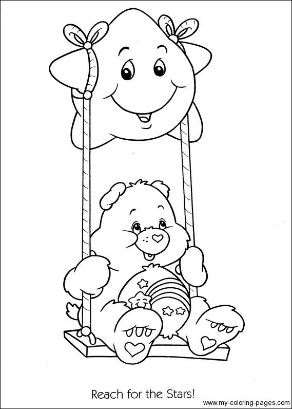 care bears coloring pages birthday bear beanie   Care Bears Coloring-105   Crafty (80's Care Bears ...