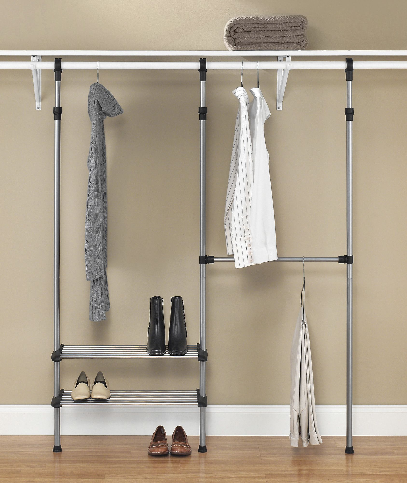 fingerhut alcove closet rod system home decor closet make up rh pinterest jp